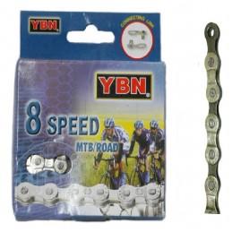 "CADENA ""YABAN"" 8-VELOCIDADES 1/2""X11/128"