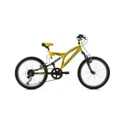 "BICI 20"" SUSPENSION TOTAL EN SHIMANO AMARILLO/NEGRO"