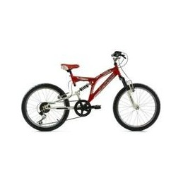 "BICI 20"" SUSPENSION TOTAL EN SHIMANO ROJO/BLANCO"