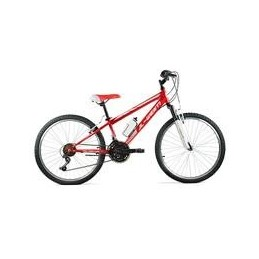 "BICI 24"" NIÑO SHIMANO CON SUSPENSION ROJO/BLANCO"