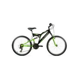 "BICI 24"" DOBLE SUSPENSION EN VERDE/NEGRO"