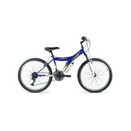"BICI 24""-Y- SHIMANO CON SUSPENSION AZUL/BLANCO"