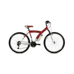 "BICI 26""-Y- ROJO/BLANCO CON SUSPENSION DELANTERA"