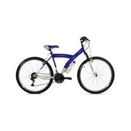 "BICI 26""-Y- AZUL/BLANCO CON SUSPENSION DELANTERA"