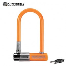 CANDADO U KRYPTONITE D13, 82X178 NARANJA