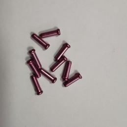 TERMINALES DE CABLE DE 2.4MM, color rosa